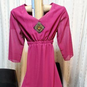Magenta color dress